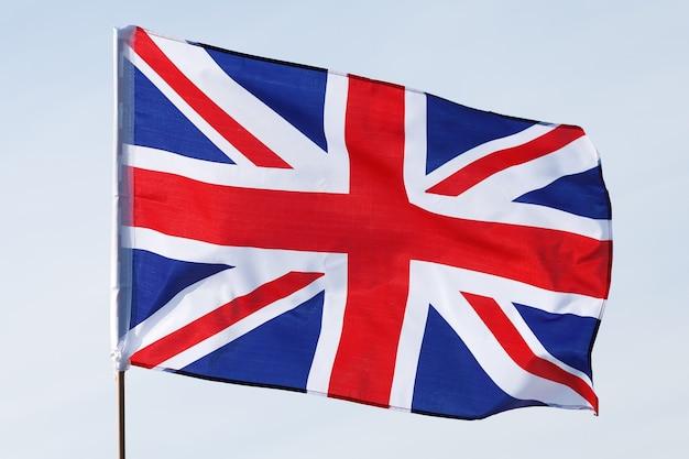 Primer plano de la bandera de reino unido