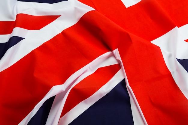 Primer plano de la bandera union jack
