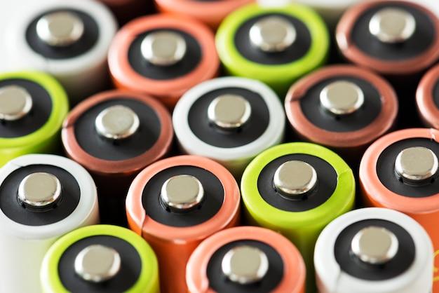 Primer plano de la batería