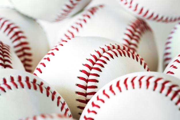 Primer plano de béisbol