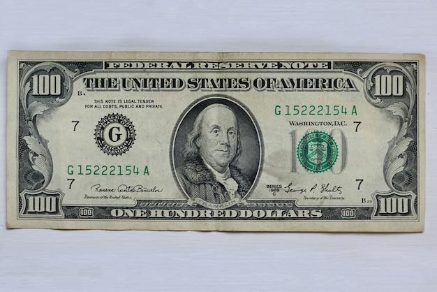 Primer plano, de, un, billete de dólar