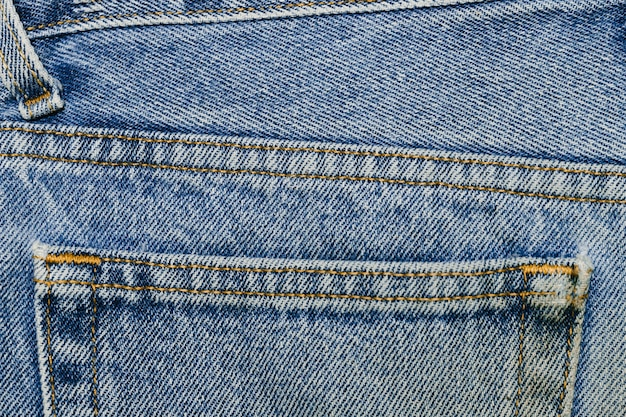 Primer plano de bolsillo de mezclilla vintage