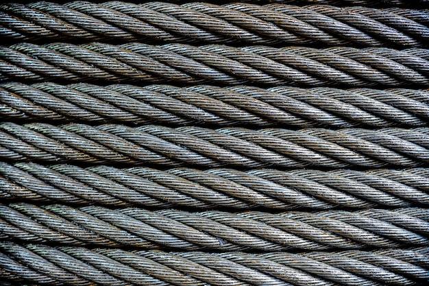 Primer plano de cable de acero