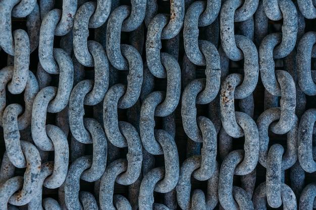 Primer plano de cadenas