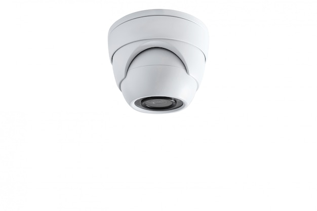 Primer plano de la cámara de cctv. sistema de seguridad.