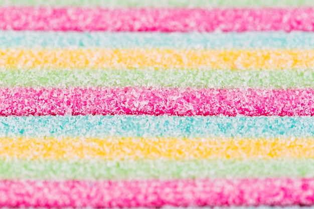 Primer plano de caramelos de azúcar de varios colores