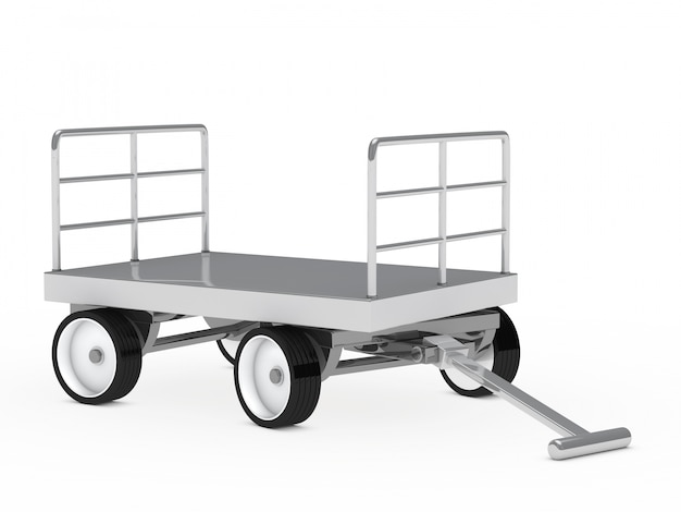 Primer plano de carrito de metal