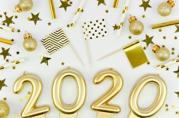 Primer plano de celebración de año nuevo 2020