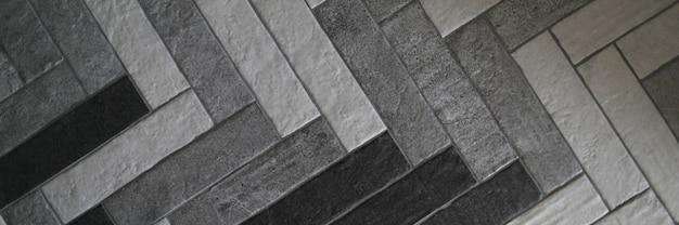 Primer plano colocado baldosas de granito cerámico para uso en exteriores