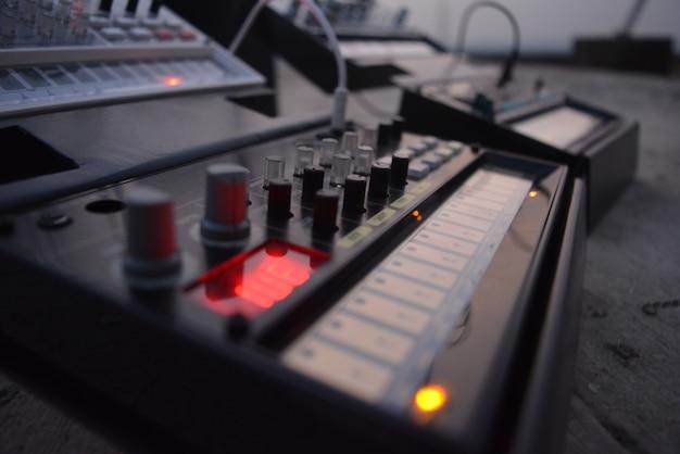Primer plano de control de música
