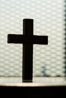 Primer plano de cruz