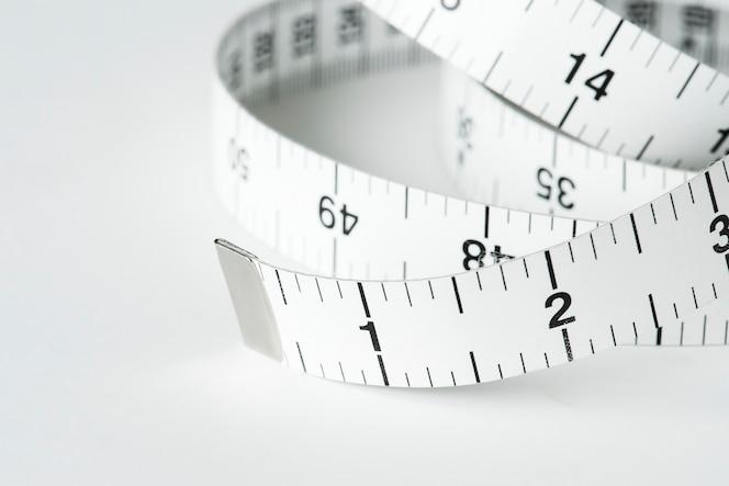 Primer plano de cinta métrica