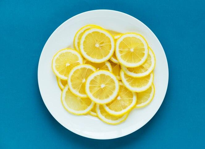 Primer plano de fondo con textura de limón