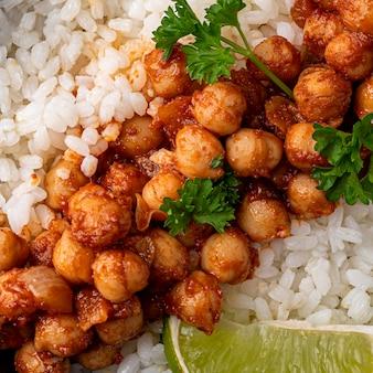 Primer plano de deliciosa comida brasileña