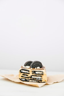 Primer plano de deliciosos pasteles de galletas