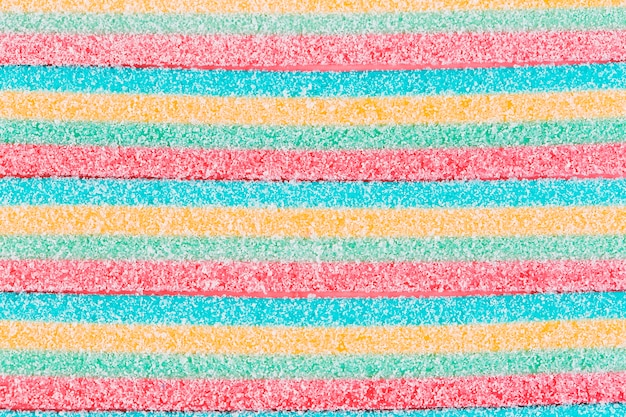 Primer plano de dulces caramelos de azúcar