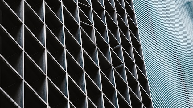 Primer plano de edificios de oficinas modernos en la ciudad