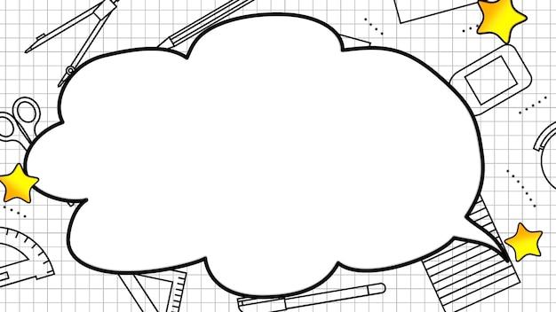 Primer plano de los elementos de la escuela, formación en educación. ilustración 3d elegante y de lujo