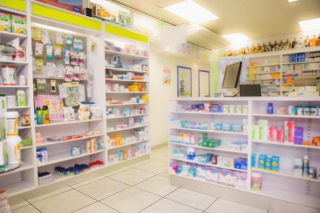 Primer plano de estantes de drogas