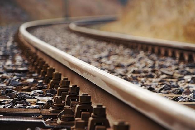 Primer plano de ferrocarril