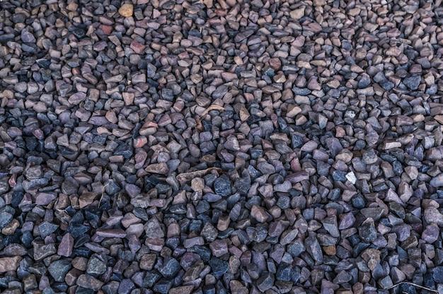 Primer plano de fondo de piedras de diferentes tamaños