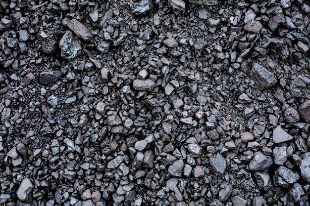 Primer plano de fondo con textura de carbón negro