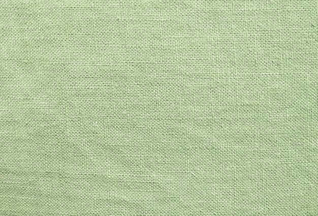 Primer plano de fondo de textura textil verde claro