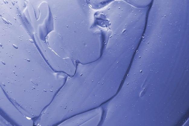 Primer plano de gel hidroalcohólico de vista superior