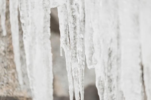 Primer plano de hielo de arriba