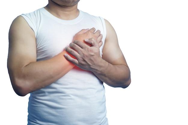Primer plano de un hombre, la vacuna inyectable covid19 afecta las manos y las extremidades, síndrome de guillain, enfermedad de barre