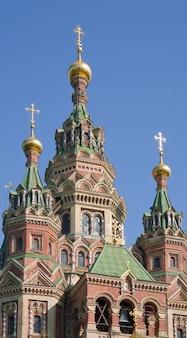Primer plano de la iglesia ortodoxa