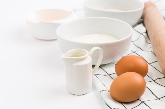 Primer plano de ingrediente saludable para hornear