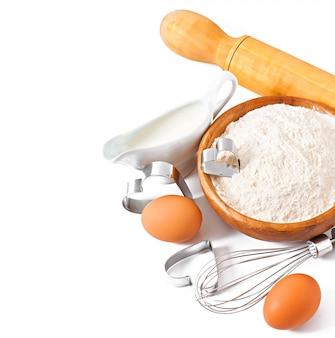 Primer plano de ingredientes para hornear
