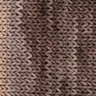 Primer plano de lana de ganchillo