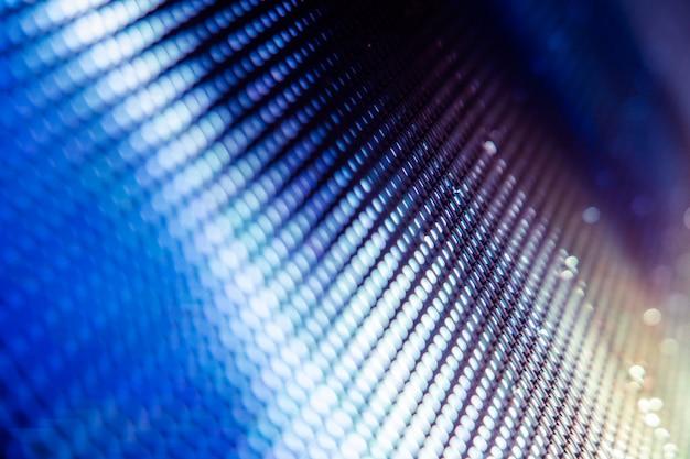 Primer plano led pantalla borrosa. fondo de foco suave led. fondo abstracto ideal para el diseño.
