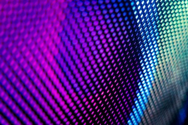 Primer plano led pantalla borrosa. fondo de foco suave led. ideal de fondo abstracto para el diseño.