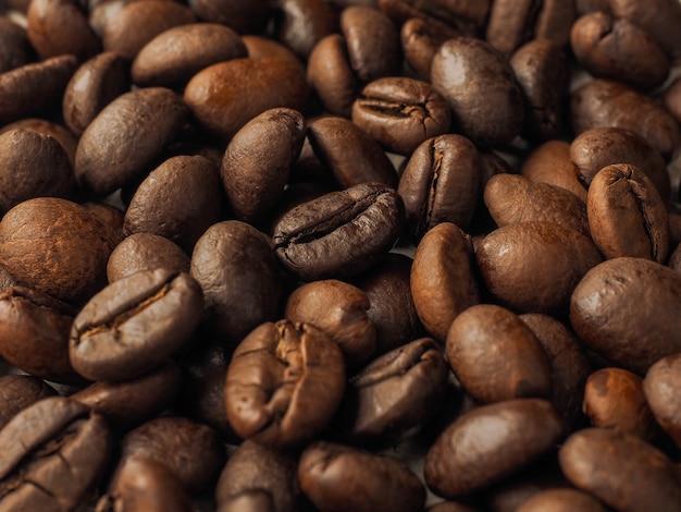 Primer plano macro fondo de textura de granos de café