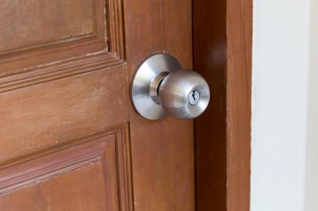 Primer plano de la manija de la puerta