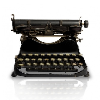 Primer plano de máquina de escribir vintage