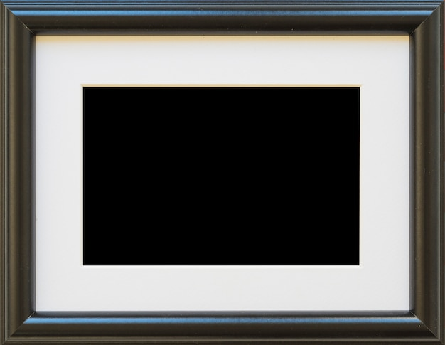 Primer plano de marco de borde vacío negro