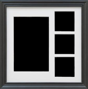 Primer plano de marco de fotos negro