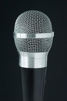 Primer plano de micrófono