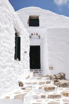 Primer plano del monasterio de aghios ioannis theologos