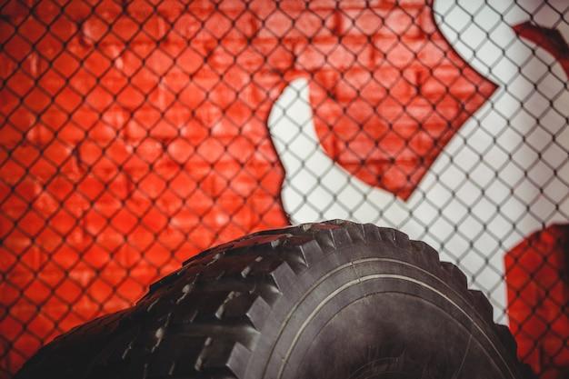 Primer plano de neumático de mazo