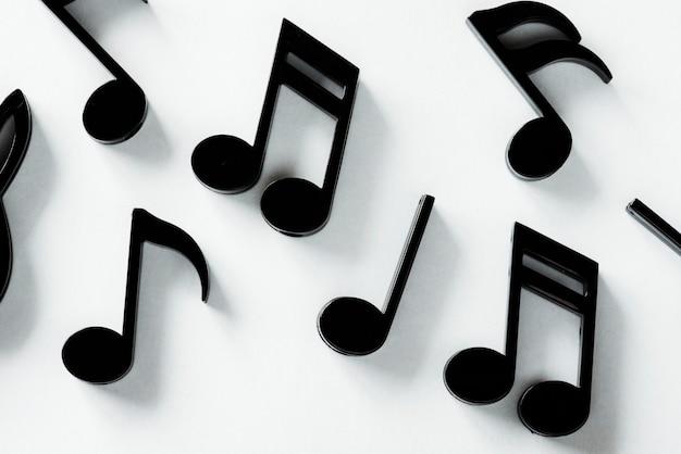 Primer plano de nota musical
