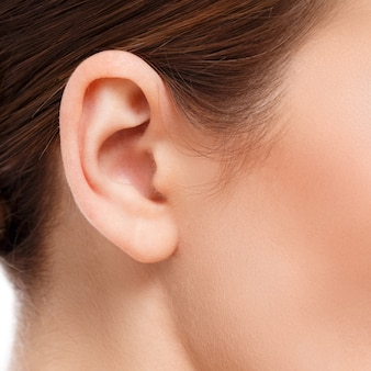 Primer plano del oído