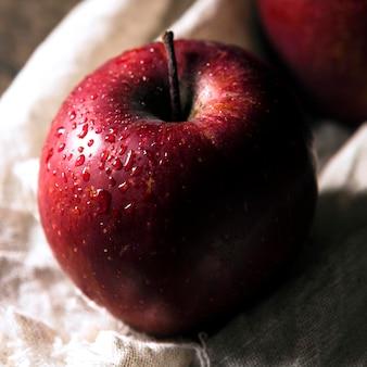 Primer plano, de, otoño, manzana