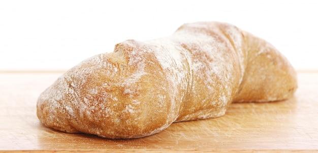 Primer plano de pan fresco