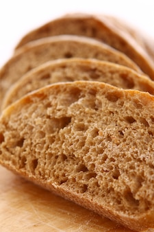 Primer plano de pan rebanado