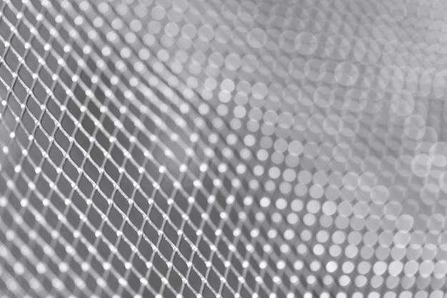 Primer plano de panal de malla metálica